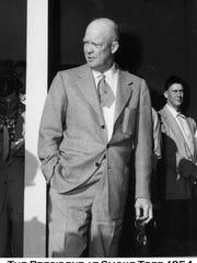 Dwight D. Eisenhower at Smoke Tree circa 1954. (Courtesy of Tracy Conrad)
