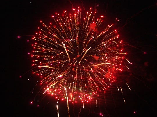 New Mexico Museum of Space History's parking lot offered the best view of the Fireworks Extravaganza Friday night.