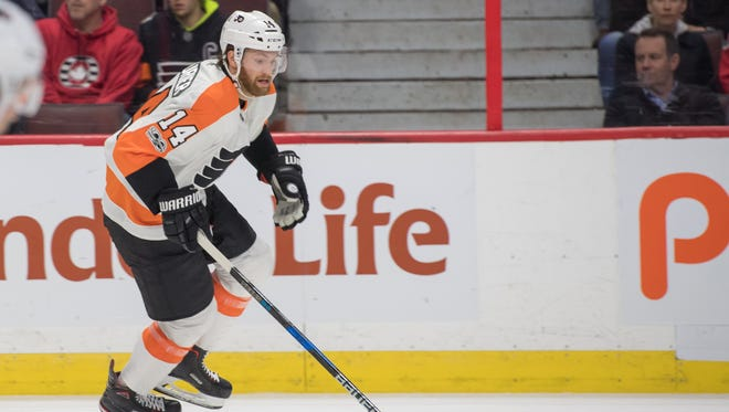 Sean Couturier has grown both on the ice and off. He's already in his seventh NHL season.