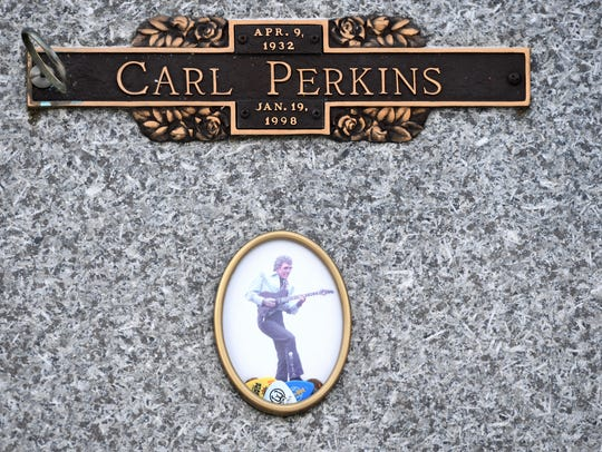 Carl Perkins was interred at Ridgecrest Cemetery in North Jackson after his death on Jan. 19, 1998. Perkins died after battling throat cancer for nearly a decade and suffering a series of strokes in late 1997.