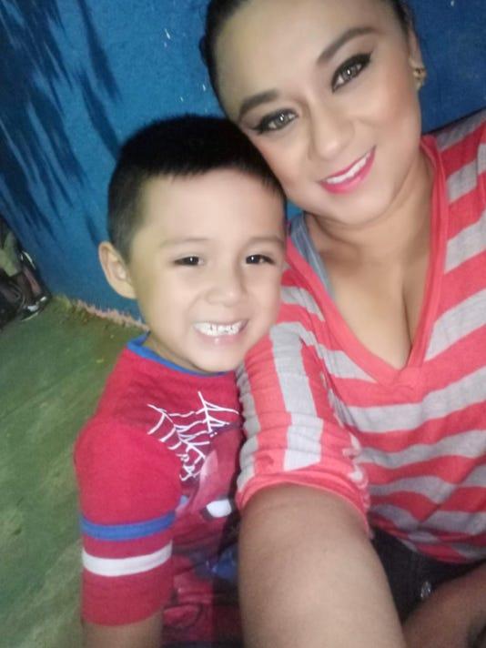 Lourdes Marianela De Leon and her son Leo