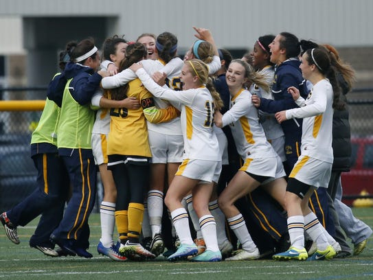 The Spencerport girls soccer team won the state Class