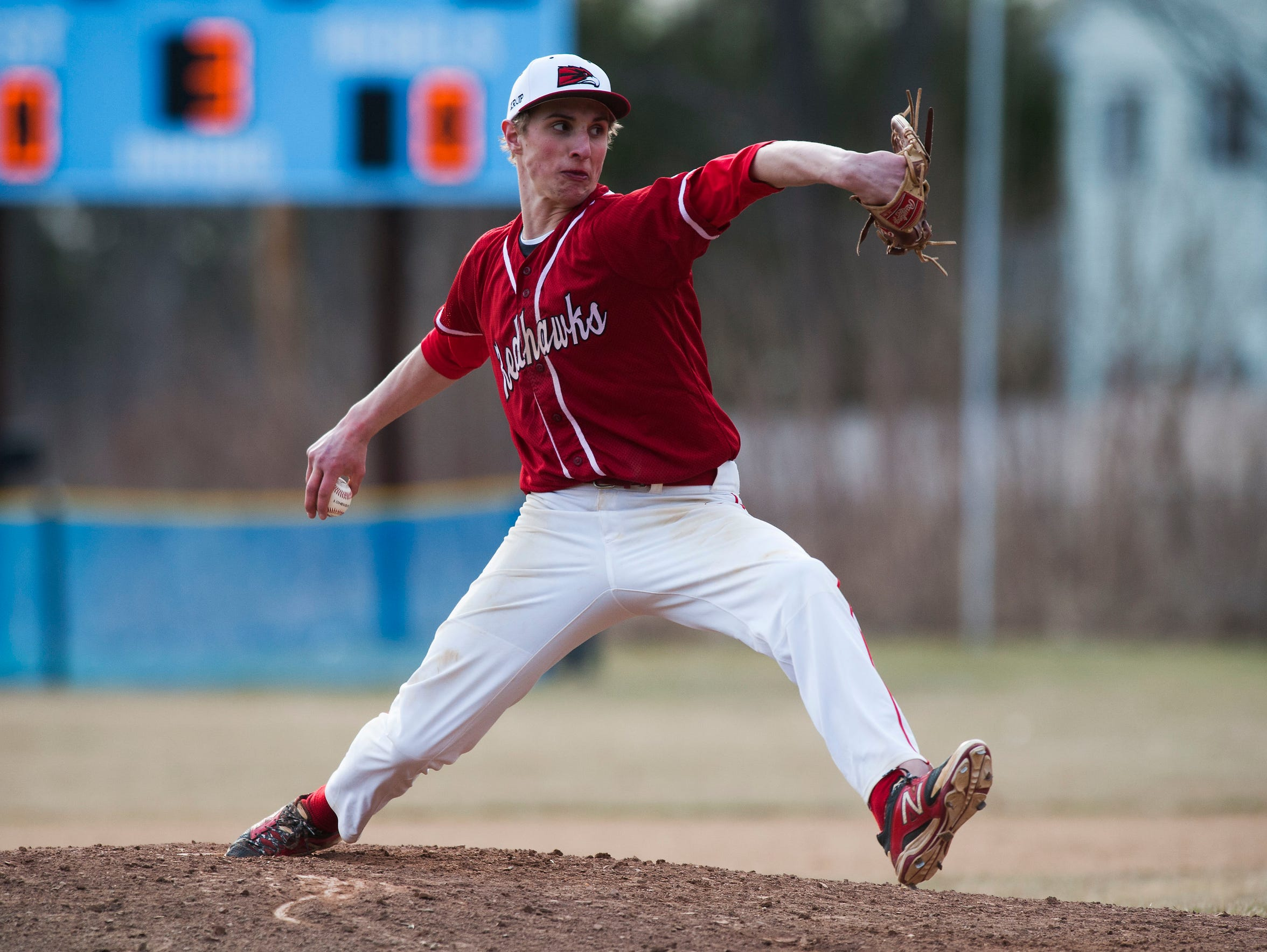 CVU's Rayne Supple (17) delivers a pitch during the