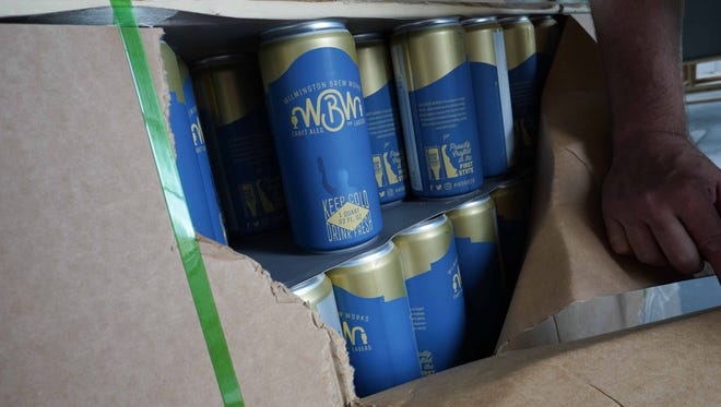 Wilmington Brew Works cans are ready for filling once the brewery is ready for production.