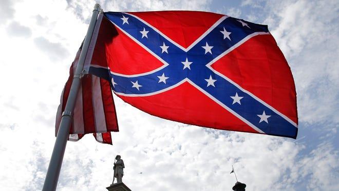 The Confederate flag.