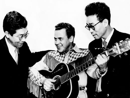 The Grand Ole Opry member Little Jimmy Dickens, center,