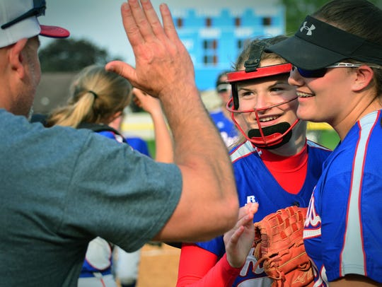 Spring Grove's Hannah Gartrell, seen here in a file photo, finished with three hits, two RBIs and a run scored in the Rockets' 4-1 win over Dallastown on Monday. One of Gartrell's hits was a two-run homer in the seventh inning.