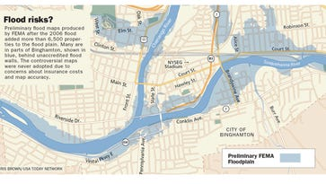 Outdated flood maps mean many Binghamton-area homeowners aren't aware of property risks
