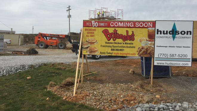 The future site of Bojangles at the corner of Highway 46 and Livestock Road in Dickson.