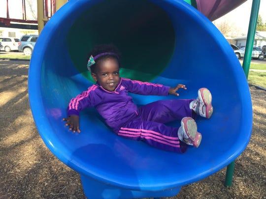 After visiting all 57 Great Falls city parks, Amara Ochsner says her first park, Sunnyside Park, is still her favorite.