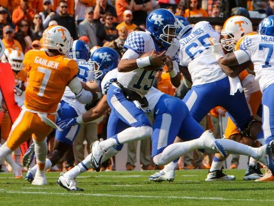 NCAA Football: Kentucky at Tennessee