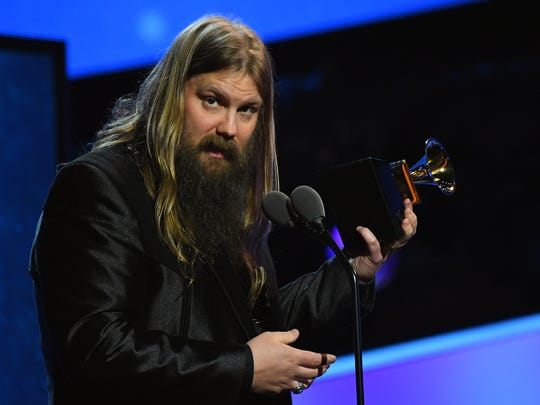 Chris Stapleton accepts Best Country Solo Performance