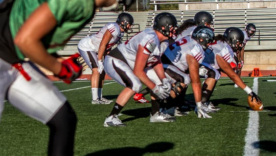 SUU football practice, Wednesday, Sept. 9, 2015.