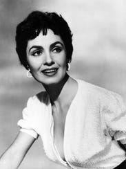 Actress Susan Cabot in the 1950s.