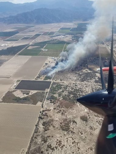 The July 23 Martinez Wildfire, which began at Martinez
