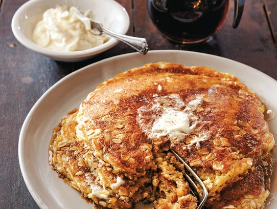 Toasted Oatmeal pancakes