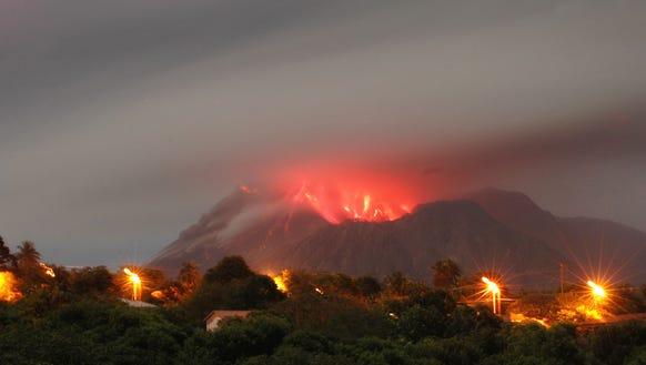 Montserrat's Soufriere Hills volcano has been active
