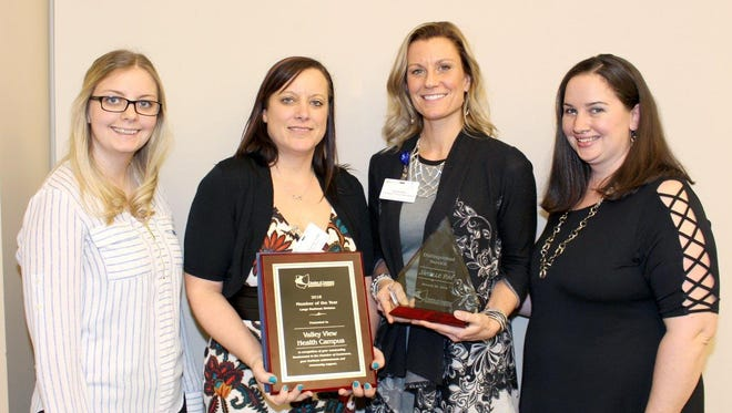 Valley View Health Campus won the Chamber of Commerce of Sandusky County Large Business of the year award Thursday night at the chamber's annual awards dinner.
