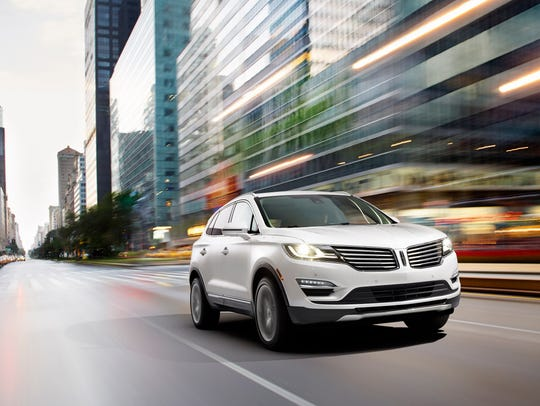 The 2015 Lincoln MKC small premium utility vehicle.