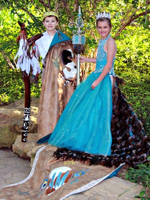 Jackson Creede Stafford, left, and Marlie Faye Morris will serve as king and queen  of the Doan's May Picnic, May 5, in Vernon. The event is the oldest continuously celebrated in Texas.