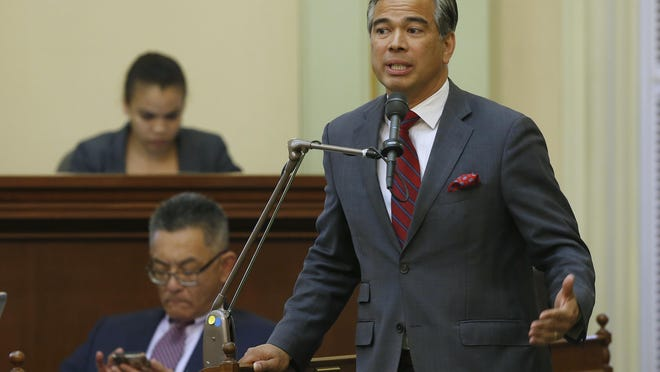"""Assemblyman Rob Bonta, D-Alameda, in May 2019, in Sacramento. California's proposal """"would provide multiple pathways for justice for victims of racially weaponized 911 calls,"""" said Bonta, the bill's author."""