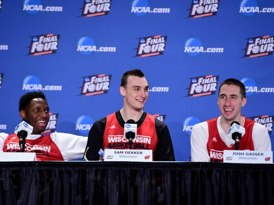 NCAA Basketball: Championship Game-Wisconsin Press Conference