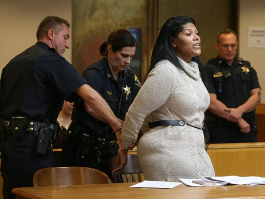 Rochester City Court Judge Leticia Astacio argues with