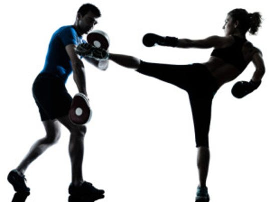 kickboxing training stock photo