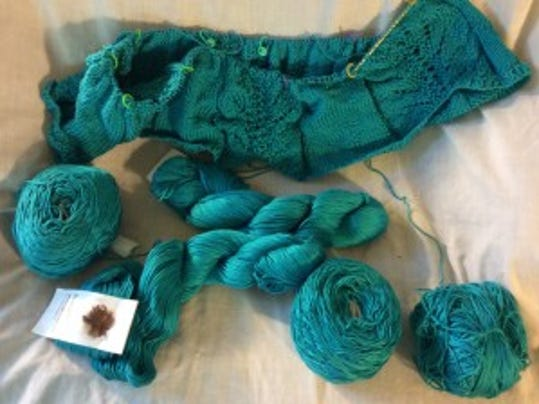 Finally, I found the turquoise Cascade Ultra Pima Cotton that fell behind my couch.