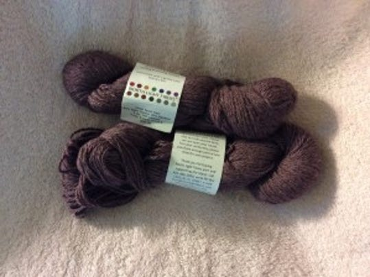 I have two skeins (300 yards) of this beautiful alpaca yarn. Just need a pattern to make something with it for my cousin, Gwenn.