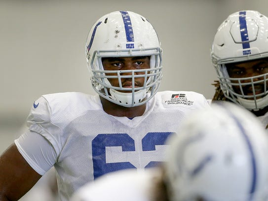 Indianapolis Colts offensive tackle Le'Raven Clark