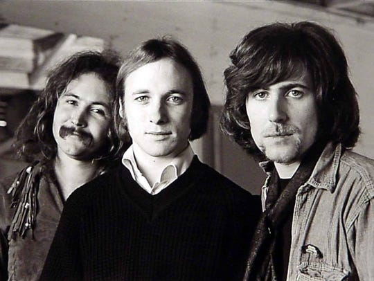 From left: David Crosby, Stephen Stills and Graham