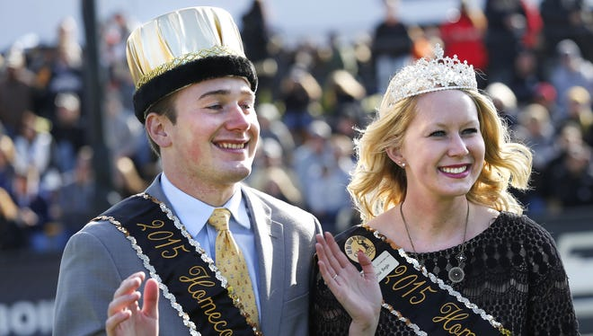 Purdue's 2015 Homecoming King and Queen, Jacob Ellis and Alyssa Begle.