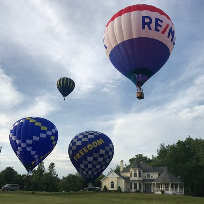 Several local pilots flew over Battle Creek a few days