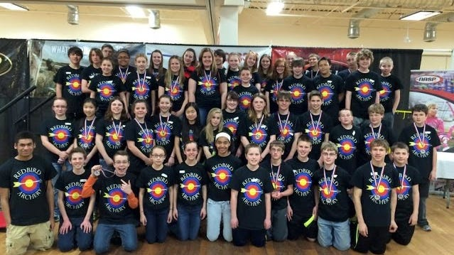 The De Pere Middle School archery team placed fifth at the state tournament.