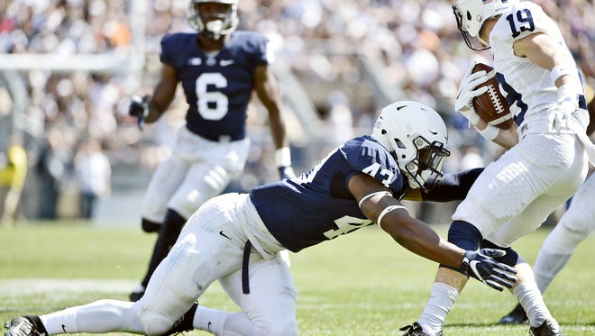 The Lions will need potential stars like linebacker Manny Bowen (43) to become a force in order to hang tight in the Big Ten East.