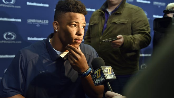 Penn State running back Saquon Barkley talks about his motivation for the Rose Bowl during bowl media day in Beaver Stadium.