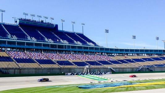 NASCAR Nationwide Series drivers practiced Friday over Kentucky Speedway's newly patched track.