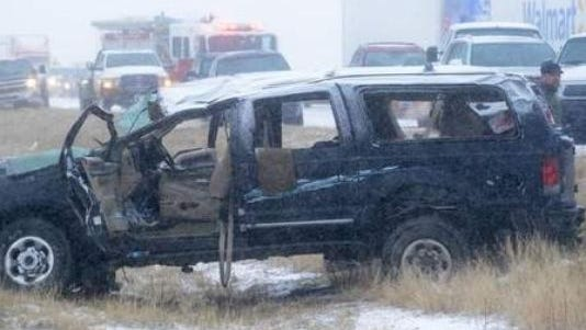 Seven people from South Dakota were injured after an accident near Fort Collins, Colo.