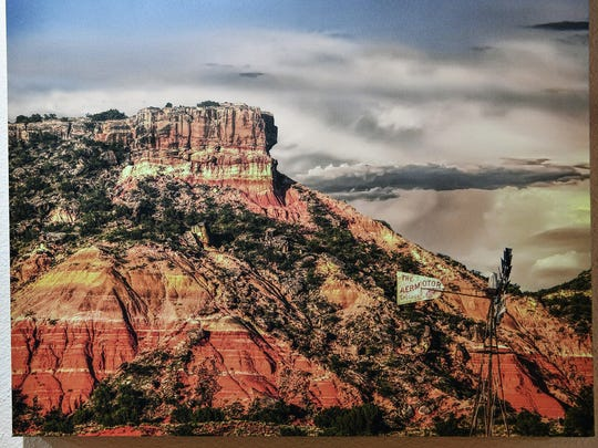 """Painted Mesa"" is a photograph by Jim Livingston, a former Wichitan and now Amarillo-based landscape photographer. A selelction of his favorite images are on display and for sale at the Kemp Center for the Arts through March 31."