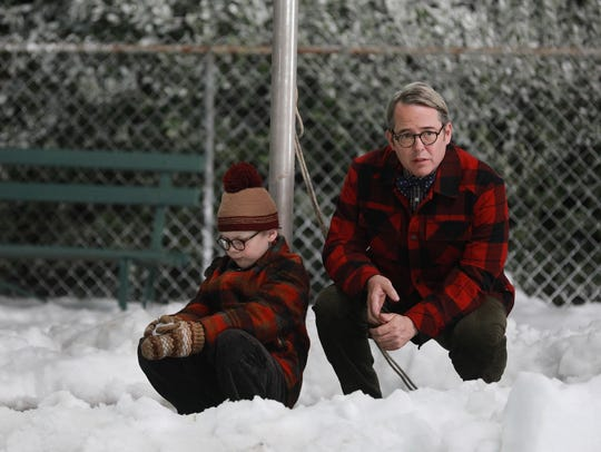 Andy Walken and Matthew Broderick in 'A Christmas Story