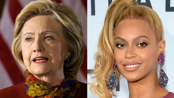 """""""I want to be as good a president as Beyonce is a performer,"""" Hillary Clinton said Wednesday."""