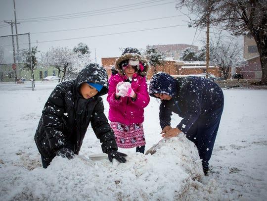 From left, Jesus Zamorano, 11, Jacqueline Zamorano,