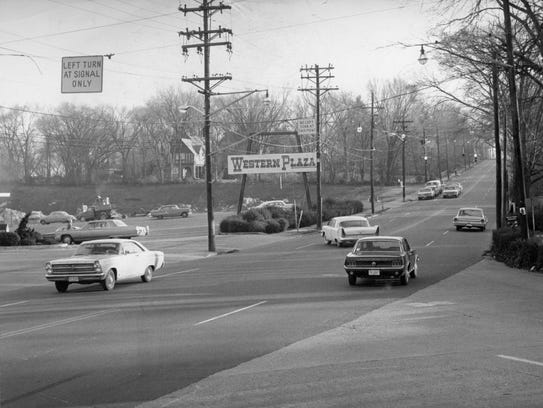 Western Plaza on Kingston Pike is seen on Jan. 7, 1968.
