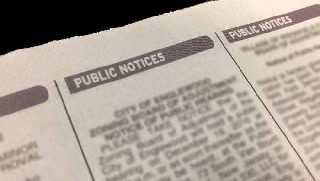 An example of public notices.