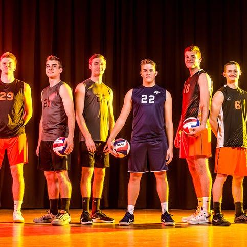 GameTimePA YAIAA boys' volleyball All-Stars 2017