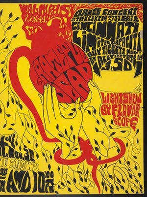 The Hyde Park Teen Center show's poster for the Grateful Dead.