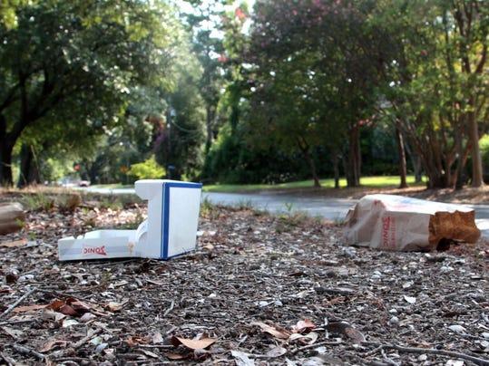 Forsythe Avenue Litter