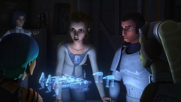 Princess Leia Organa (voiced by Julie Dolan) makes