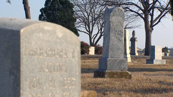 The Independent Order of Odd Fellows Cemetery in Denton,